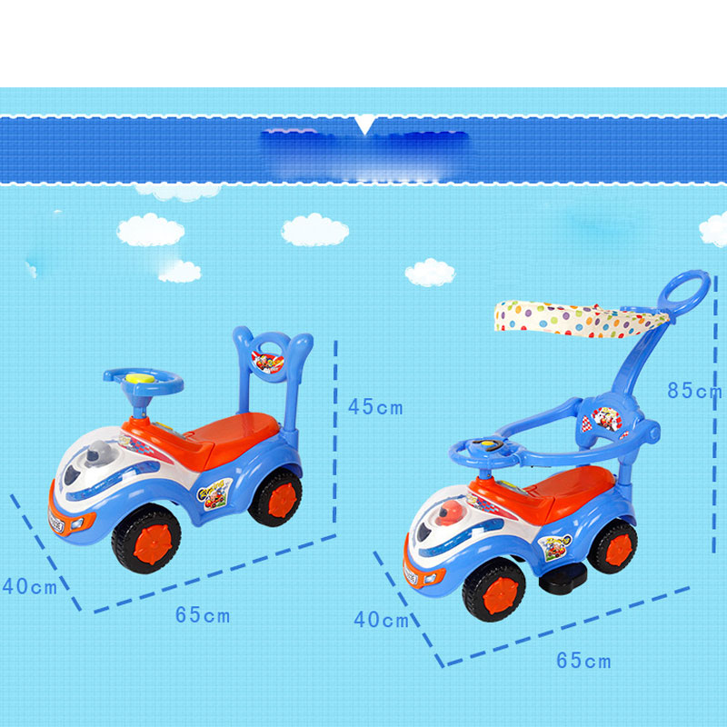 High Quality fat baby stroller toy car with awnings stroller walker toys with music for children