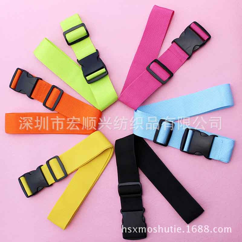 wholesale luggage ribbon strap adjustable travel bandage sewing buckle belt leather belt with buckle