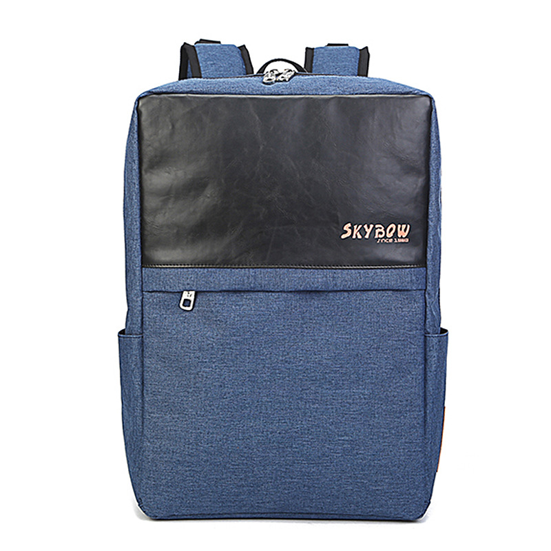 Fashion Rucksack Solid Zippers Waterproof Schoolbag Teenagers Laptop Bag 5701