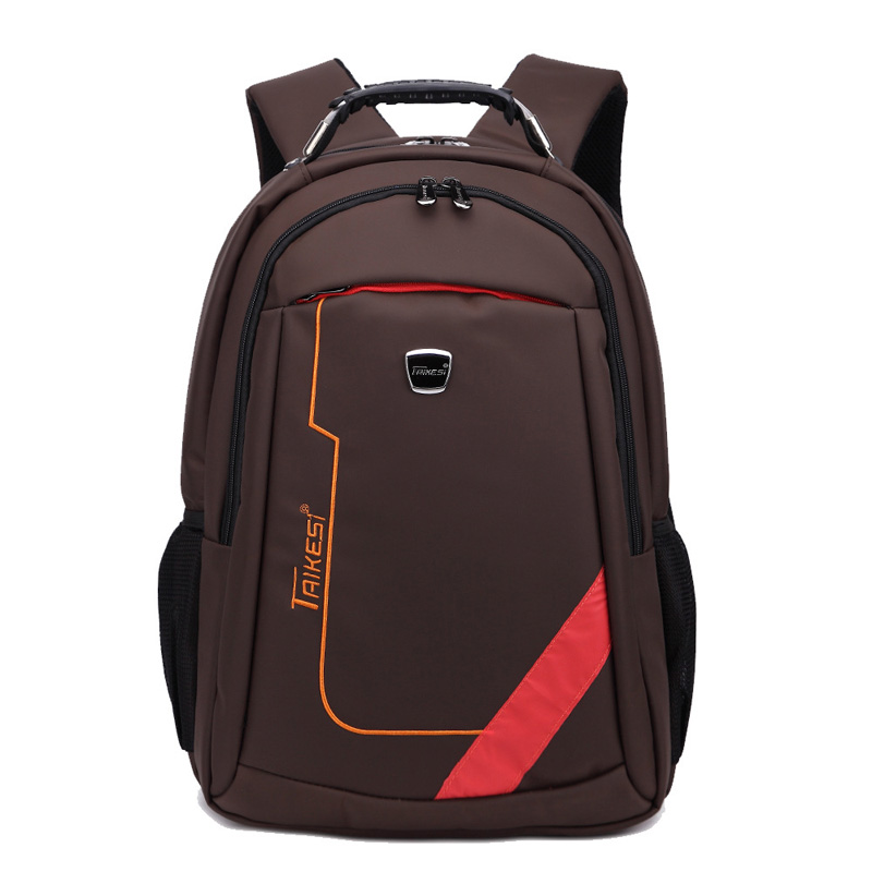 New Fashion Male Backpack Solid Nylon Waterproof Durable School Bag For Men 1639