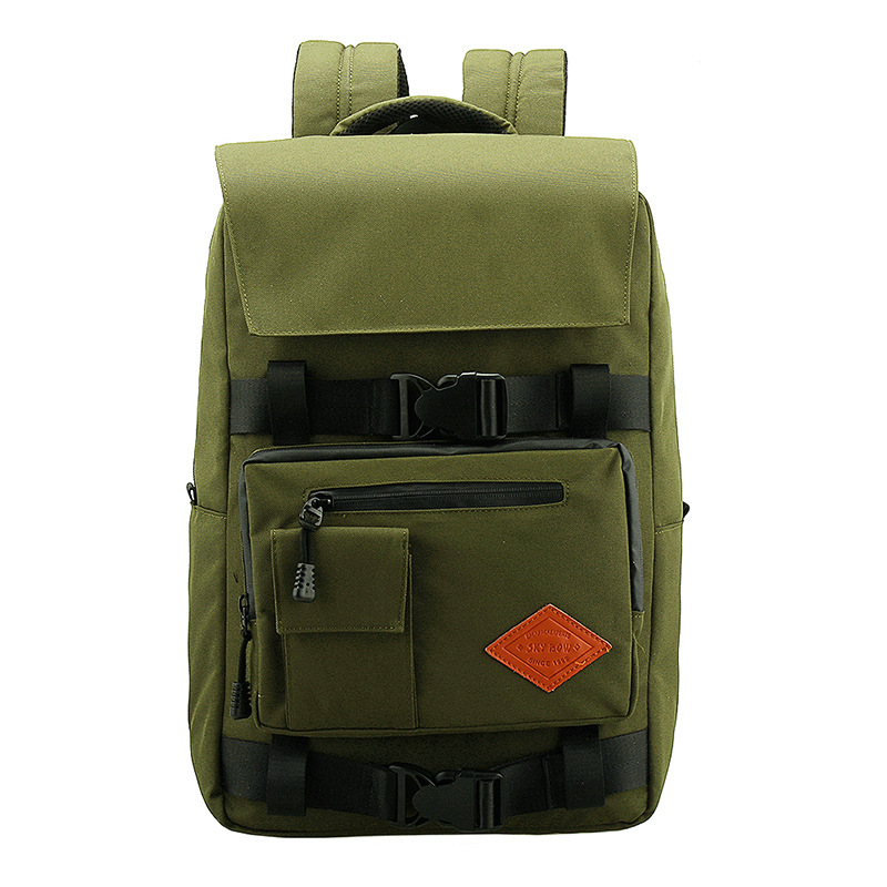 Hot Sale Men High Quality Canvas Large Capacity Casual Schoolbag 16 inch Laptop Bag
