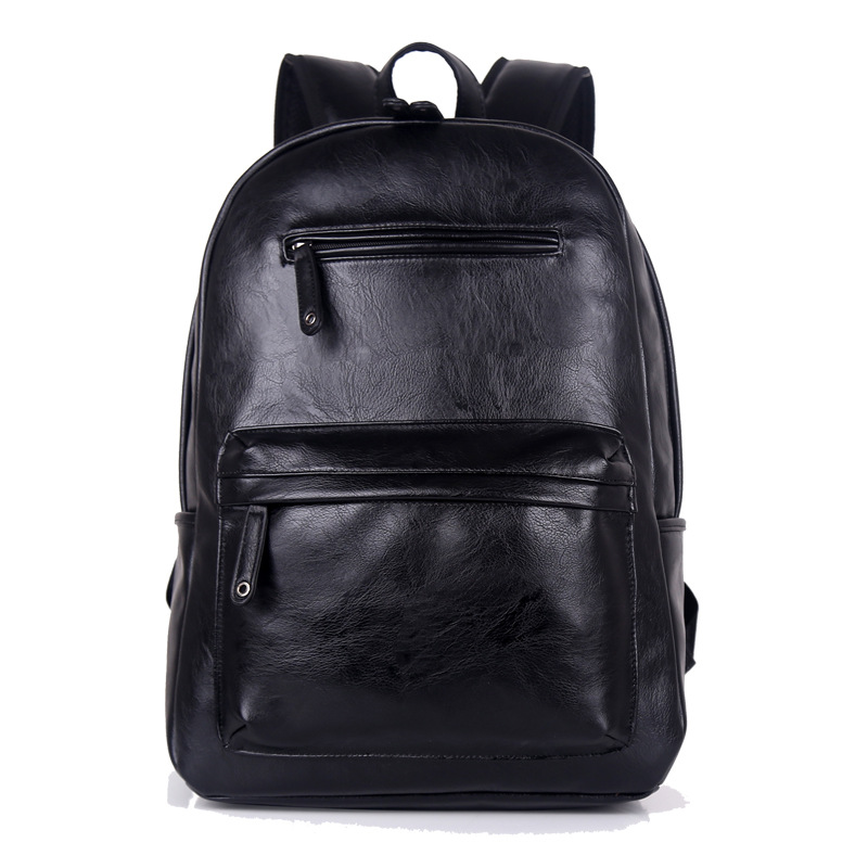 Hot Sale Men High Quality PU Leather Casual Schoolbag Laptop Bag 9004