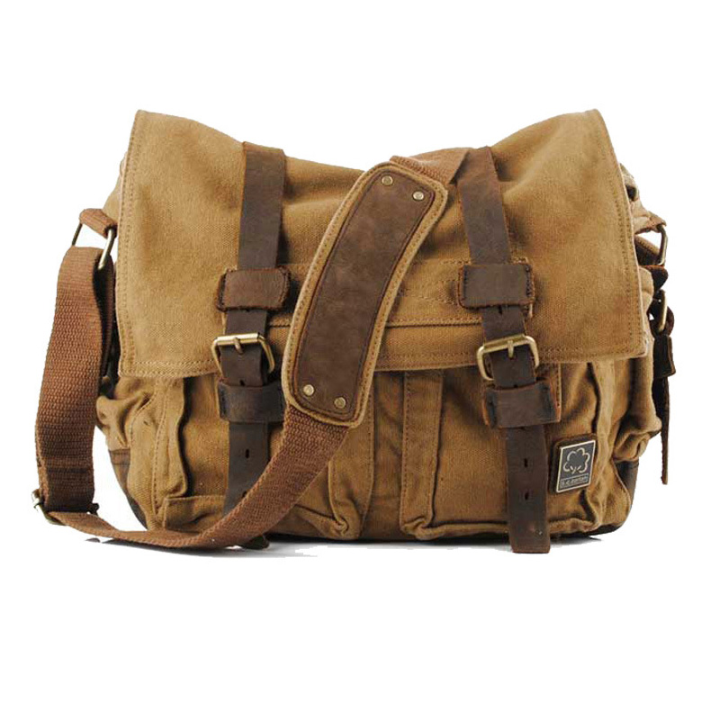 New Fashion Casual Travel Men Canvas Messenger Bags Man Shoulder Crossbody Bag