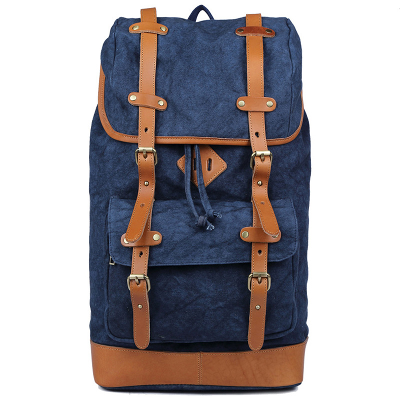 Vintage Canvas Men Backpack School Bags High Quality Travel Bags 8620