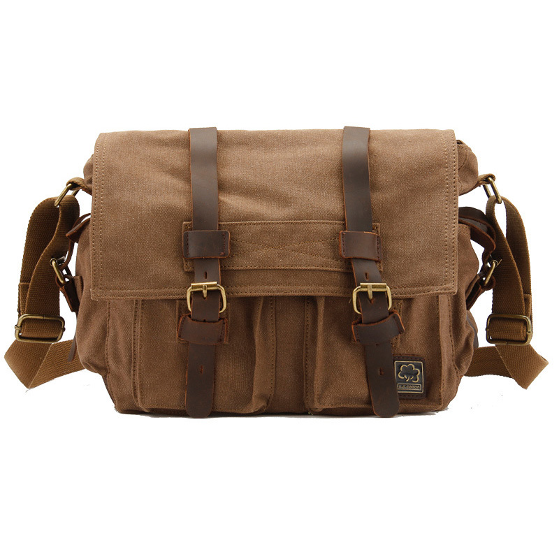 New Style Fashion Canvas Messenger Bags Men Casual Crossbody Bag 1038