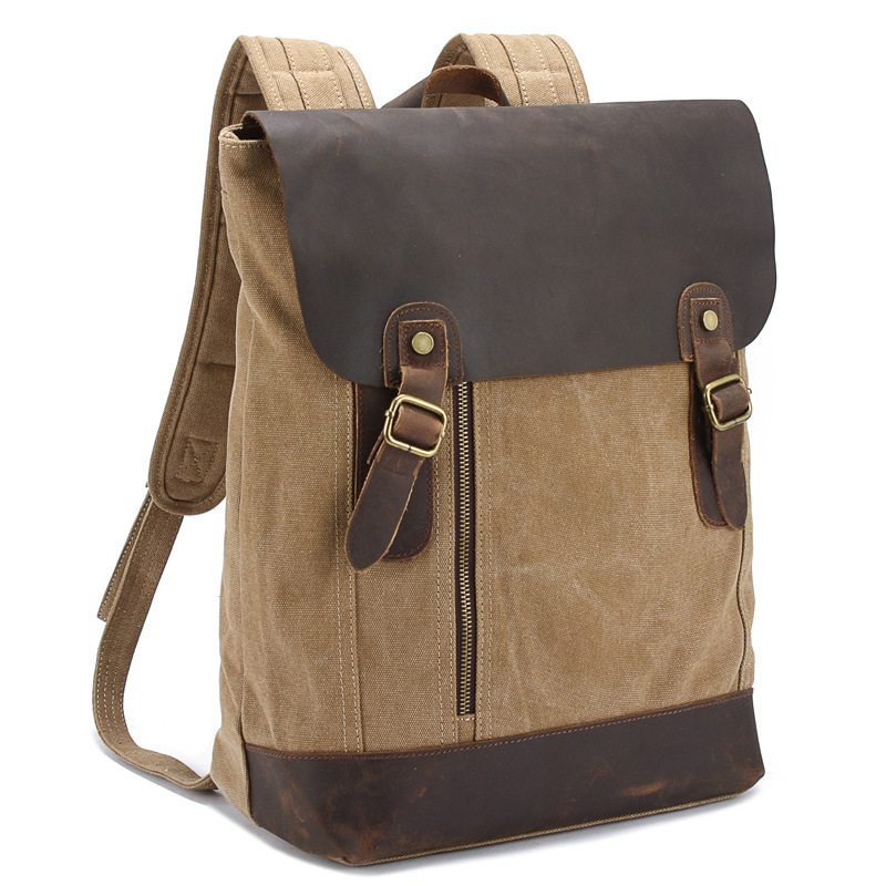 Fashion Casual Canvas School Backpack Travel Bag Large Capacity Men Backpack FB-8004