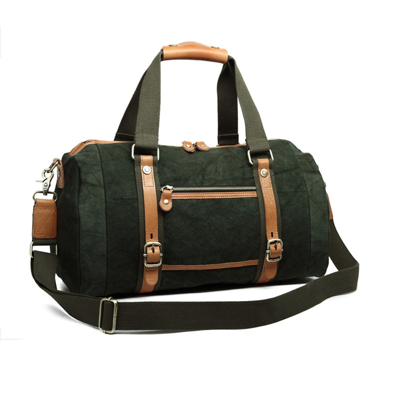 High Quality Men Canvas Shoulder Portable Large Capacity Handbags Travel Bags 8601