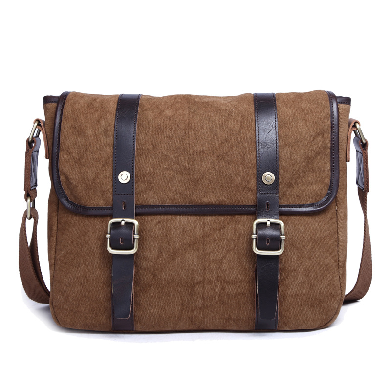 New Style Men Canvas Shoulder Portable Bag Men Briefcase 8601