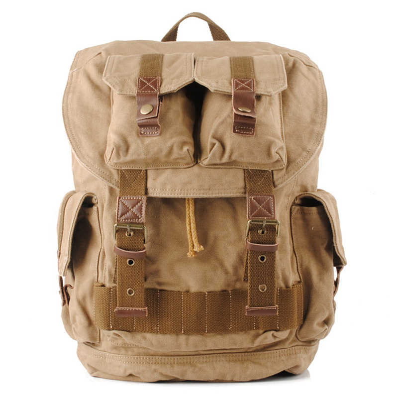 Vintage Canvas Travel Bags High Quality Men Backpack Climbing Bag 1076