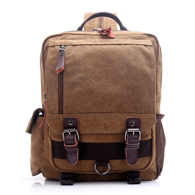 Fashion Travel Bags School Bags Men Canvas 10 Inch Laptop Backpack 2003