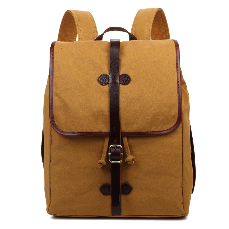 High Quality Casual Canvas Backpack Travel School Bag Laptop Bags 8618-C