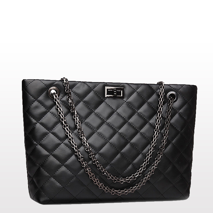 New Lingge Chain Women Shoulder Bags Genuine Leather