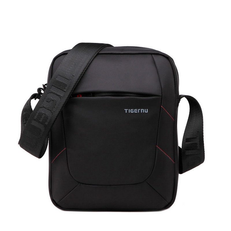 Tigernu Brand Black Nylon Crossbody Bag Messenger Bag for Men