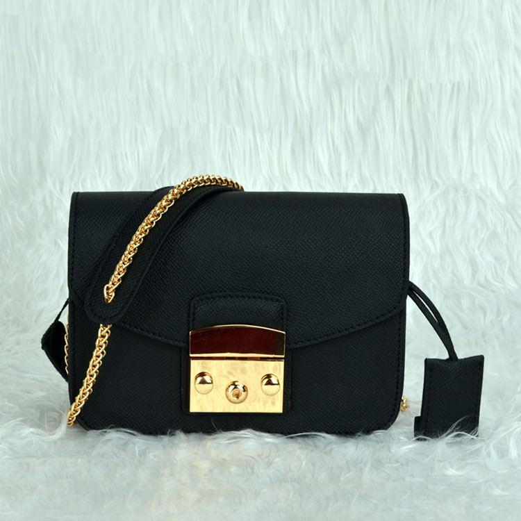 Mini Cube Bags Genuine Leather Women Shoulder Bags