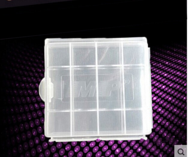 MP Plastic Transparent White Battery Case Holder Storage Box Free Shipping For NO.5/NO.7 Battery