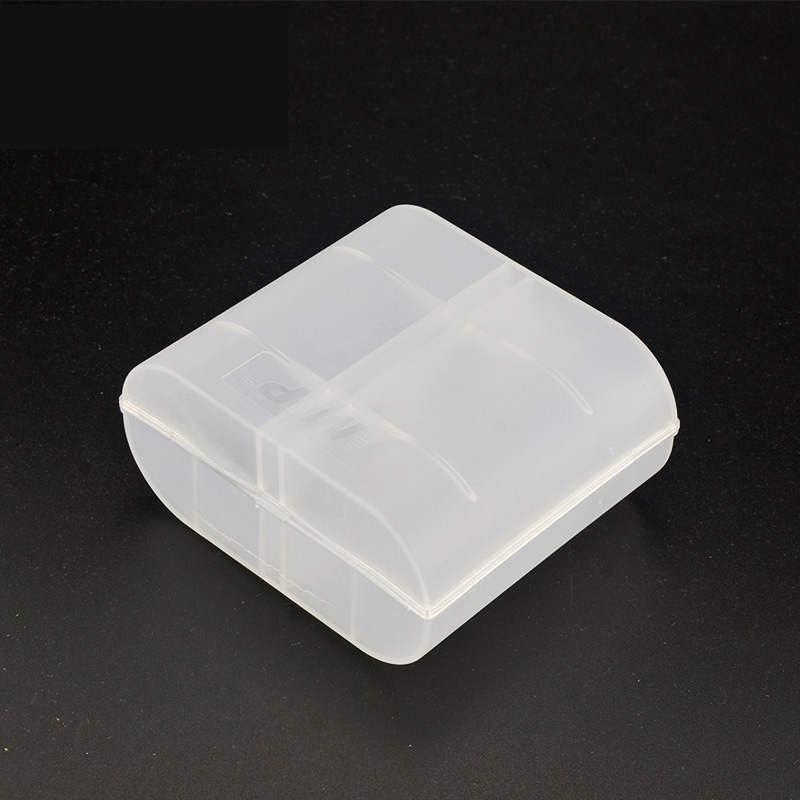 Transparent Plastic Battery Holder case Battery NO.1 SizeD White Battery Storage box
