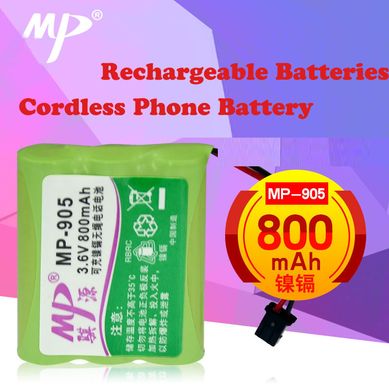 Cordless Phone Battery with Connector BP-905 AA*3 3.6V Phone Rechargeable Batteries