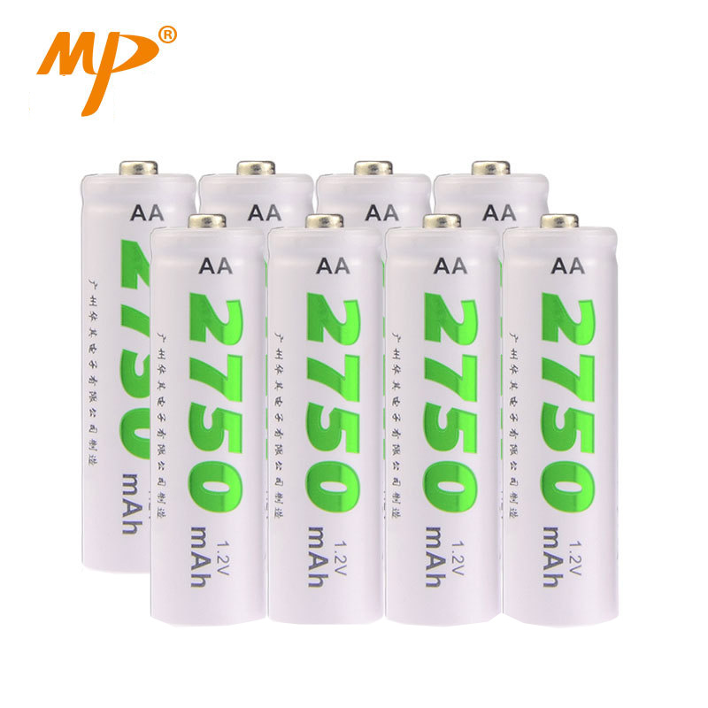 MP Battery NI-MH AA 2750mAh NO.5 Mouse Remote control car 8PCS/lot