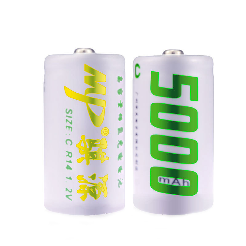 Durable High Capacity Size C NO.2 1.2v 5000mAh NI-MH Rechargeable Battery