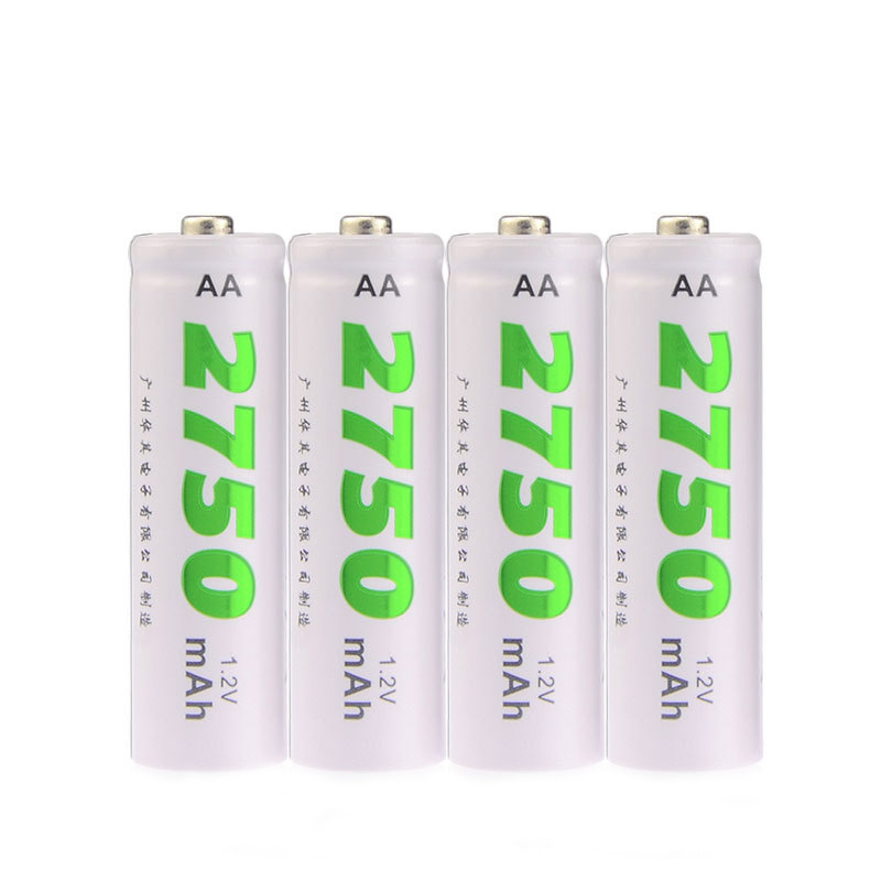 4PCS/lot Low Self Discharge NO.5 2750mAh NI-MH Rechargeable Battery Mouse Toy