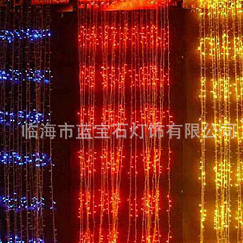 2X1m 200Led Curtain Fairy String Light Fairy Light Christmas Light For Wedding Home Garden Party Decor