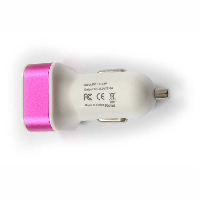 2 USB Port Smart Car-charger for Iphone Samsung Phone