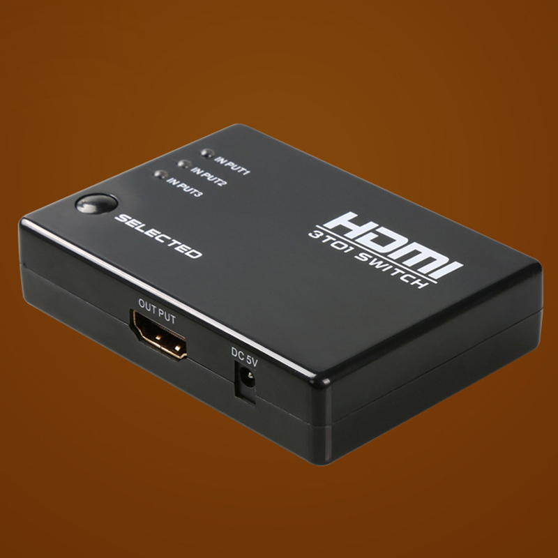 Factory Direct High Quality 3 Port HDMI Switcher HDMI True Matrix HDMI Switch Splitter Hub Box Switcher