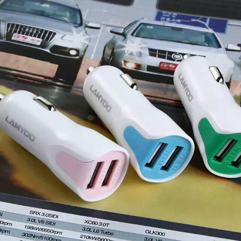 USB Mini Car Charger Cigarette Lighter Universal Fast Smart Car Charger C- 24