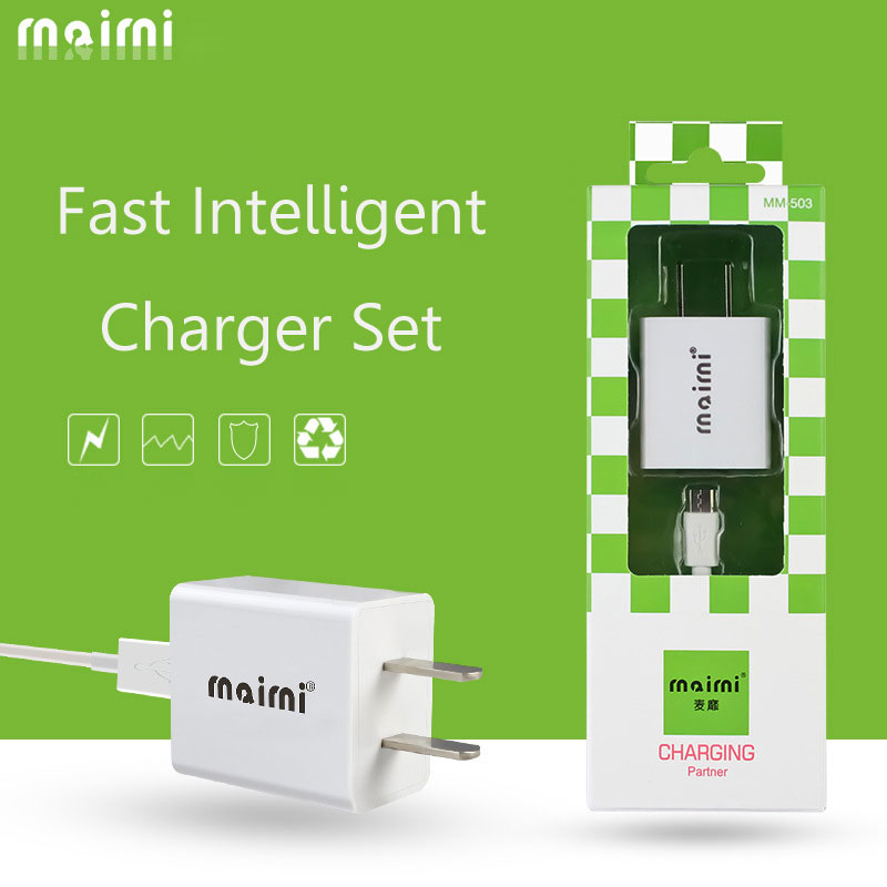 Fast Charging Set Charger Head+Cable Universal USB Power Adapter MM-503