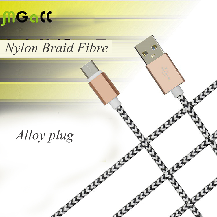 Hot Sale Type-C USB Date Cable Nylon Braid Fibre Charging Cable C-1