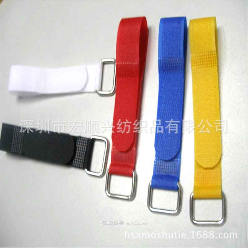 wholesale magic paste tie Iron buckle Velcro straps colorful tie with buckle