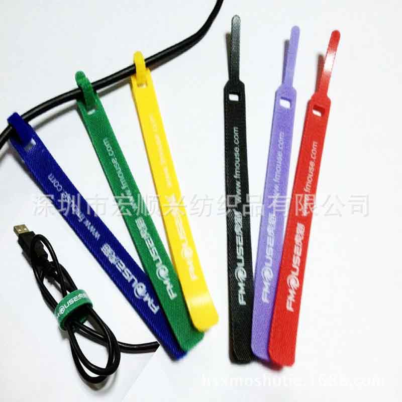 Back-to-Back magic paste strap speaker camera head T tie mouse wire strap customing logo whole
