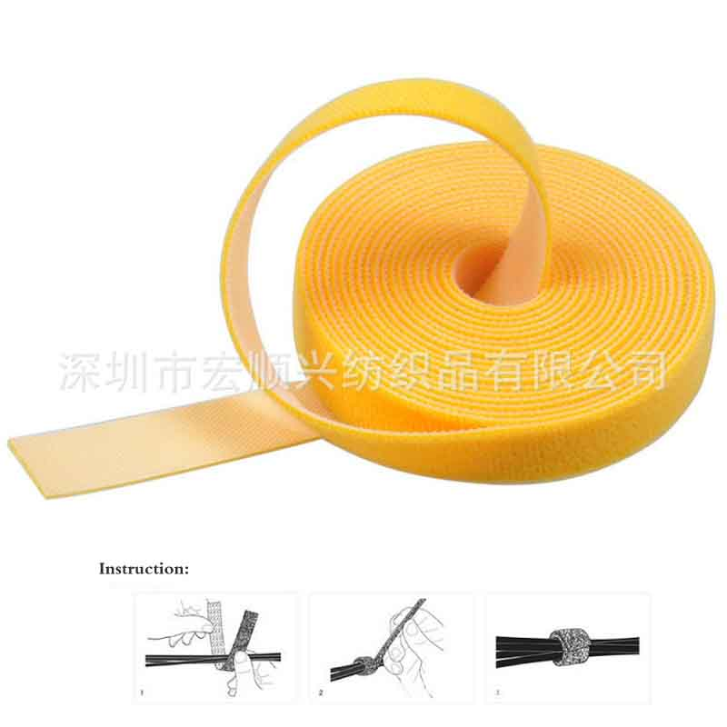 Supply Self sticking adhesive tape nylon magic paste gardening bandage Roll cable bandage