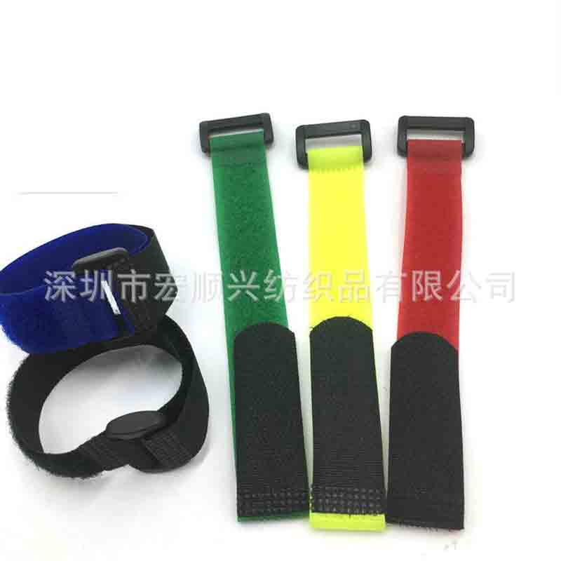 Supply 20*300mm magic paste strap battery tie with buckle airplane model belt
