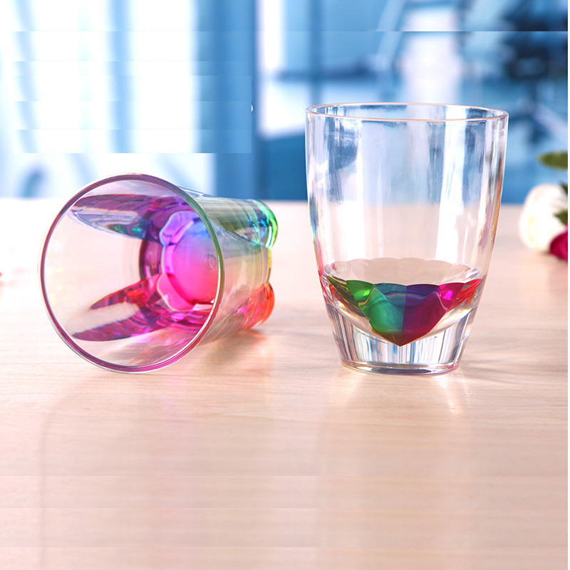 New Style High Quality Plastics Cup Rainbow Cup A146787