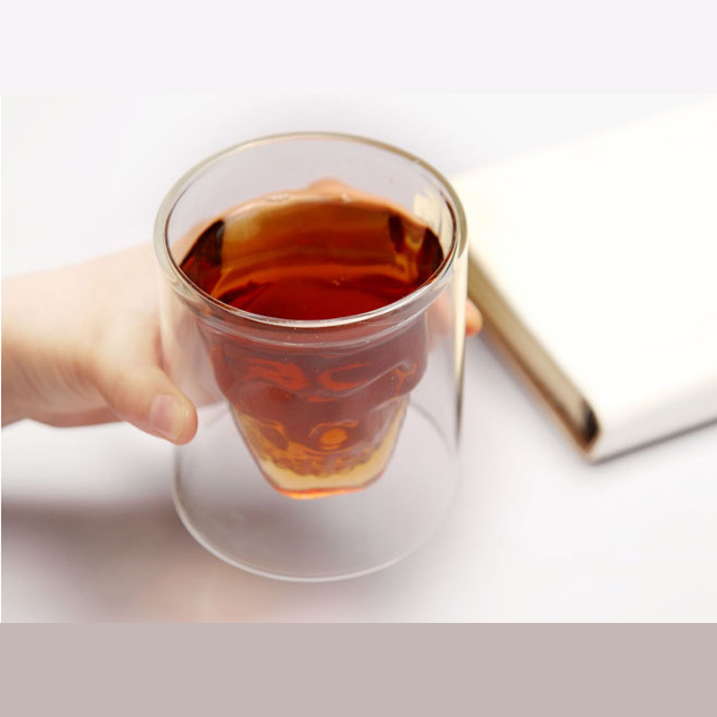 Creative Skull Double Beer Cup Juice Cup Glass Cup KL-928