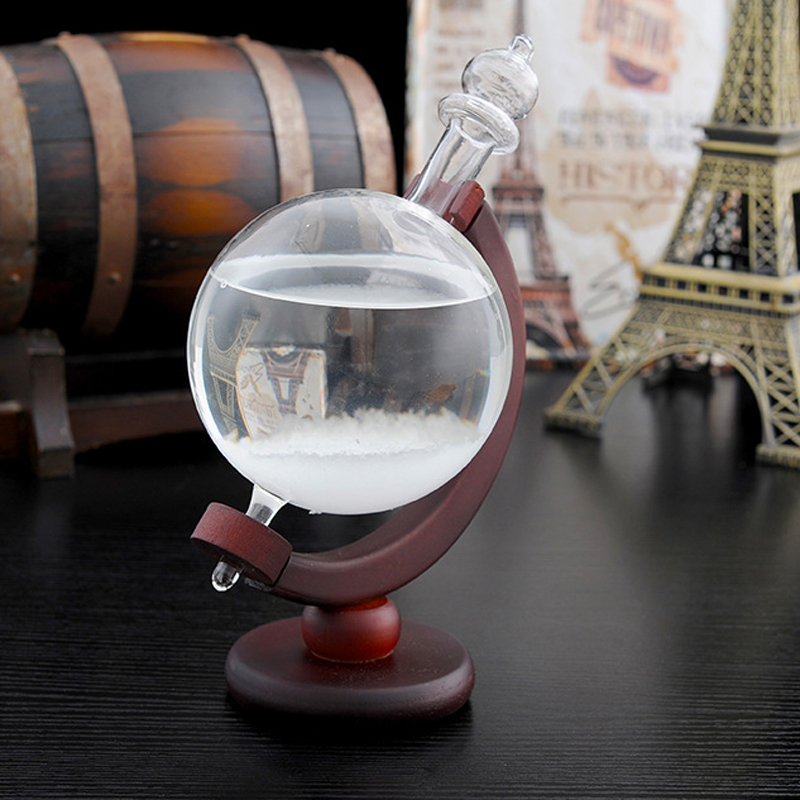 Creative Storm Globe Shape Bottle Forecast Bottle Home Decoration Cylinder Crystal Vase XLS-02