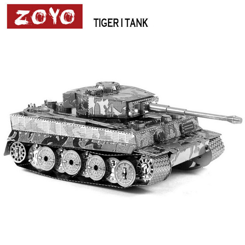 High Quality Metal Tiger Tank 3D Puzzle Vessel Educational Toys For Kids