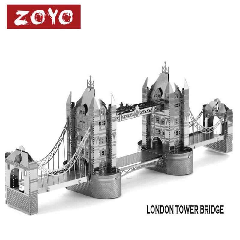 Fun Metal London Tower Bridge 3D Puzzle Vessel Educational Toys For Kids
