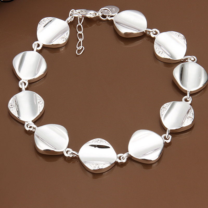 Luxury Beautiful Silver Plated Charm Bracelets For Women