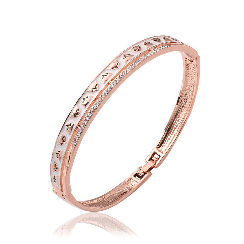 High Quality Jewelry Beautiful Simple Rose Gold Charm Bracelets For Women