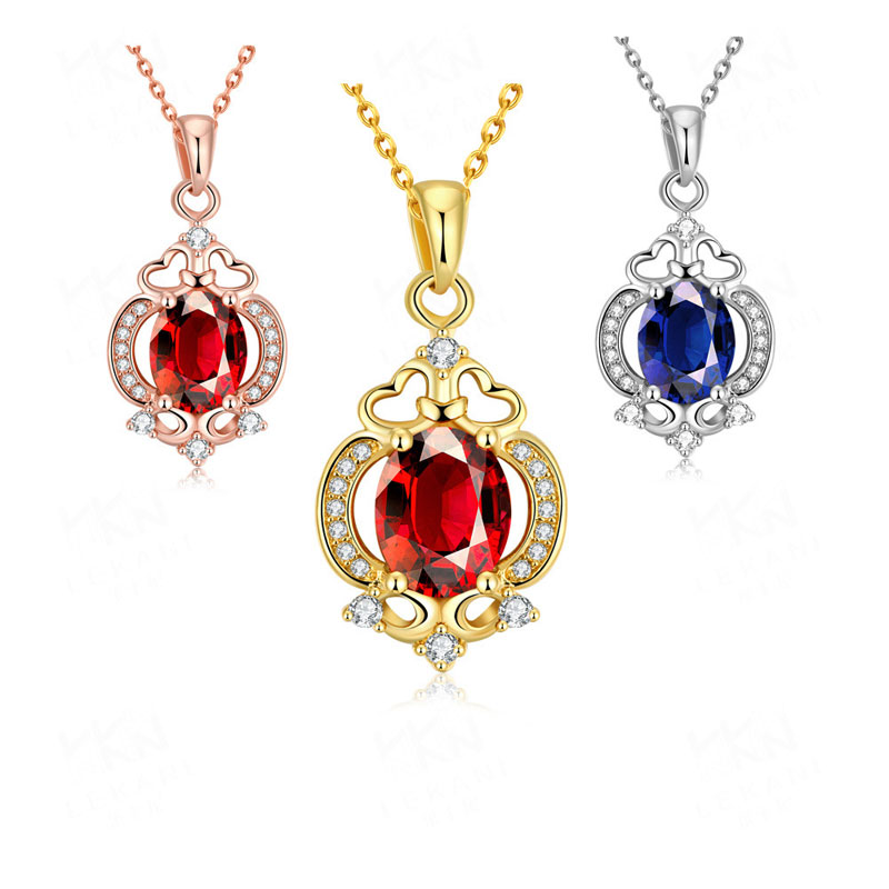 Top Quality Jewelry Beautiful With Cubic Zirconia Crystals Trophy Pendant Necklace For Women