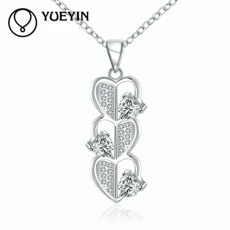 High Quality Fashion Jewelry For Women 925 Sterling Silver Jewelry Zircon Necklaces