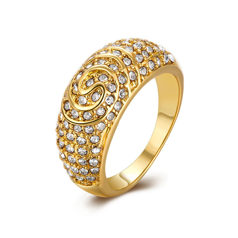 Simple Beautiful Top Quality Yellow Gold Rings For Women