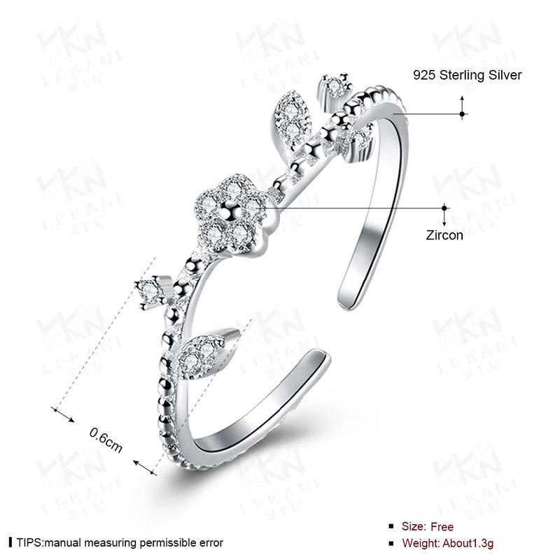 New Fashion 925 Sterling Silver Jewelry Cubic Zirconia Plum Rings For Women Party