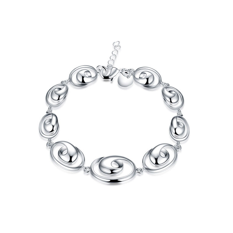 Simple Beautiful Top Quality 925 Sterling Silver Fashion Jewelry Charm Bracelets For Women