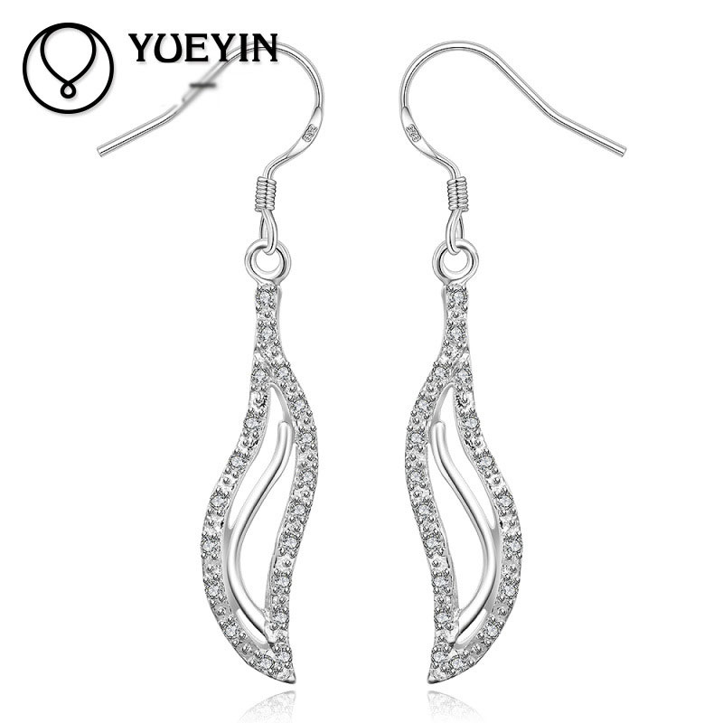 Simple Geometric Modeling 925 Sterling Silver Earrings Geometric Dangle Earrings Cute For Women