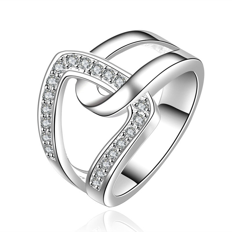 Simple Beautiful Top Quality 925 Sterling Silver Rings For Women