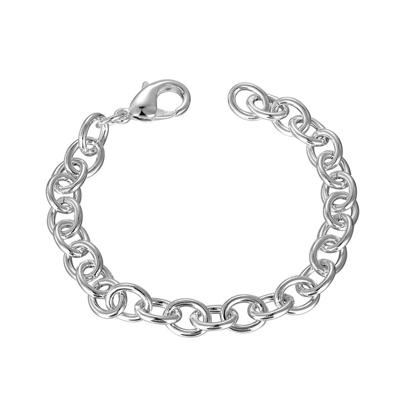 Simple Jewelry 925 Sterling Silver Fashion Jewelry Charm Bracelets