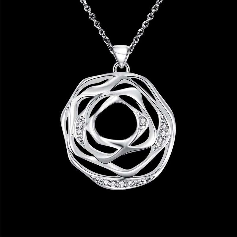 Simple Beautiful Top Quality 925 Sterling Silver Necklace For Women